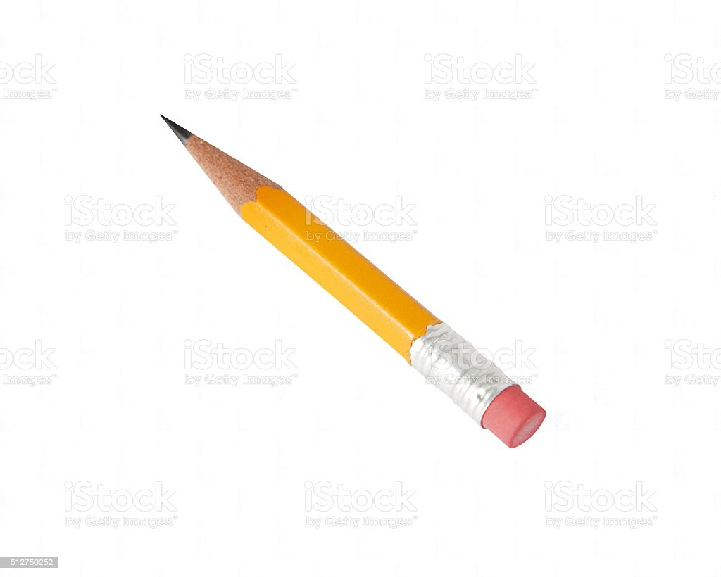 Pencil with clipping paths stock photo