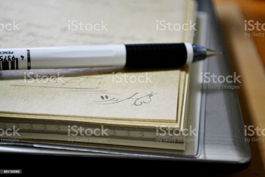 pencil with noetbook royalty-free stock photo