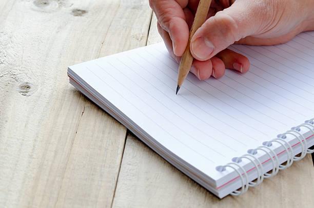 Pencil Writting stock photo
