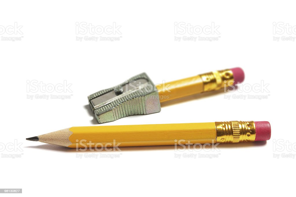 Pencils and Sharpener royalty-free stock photo