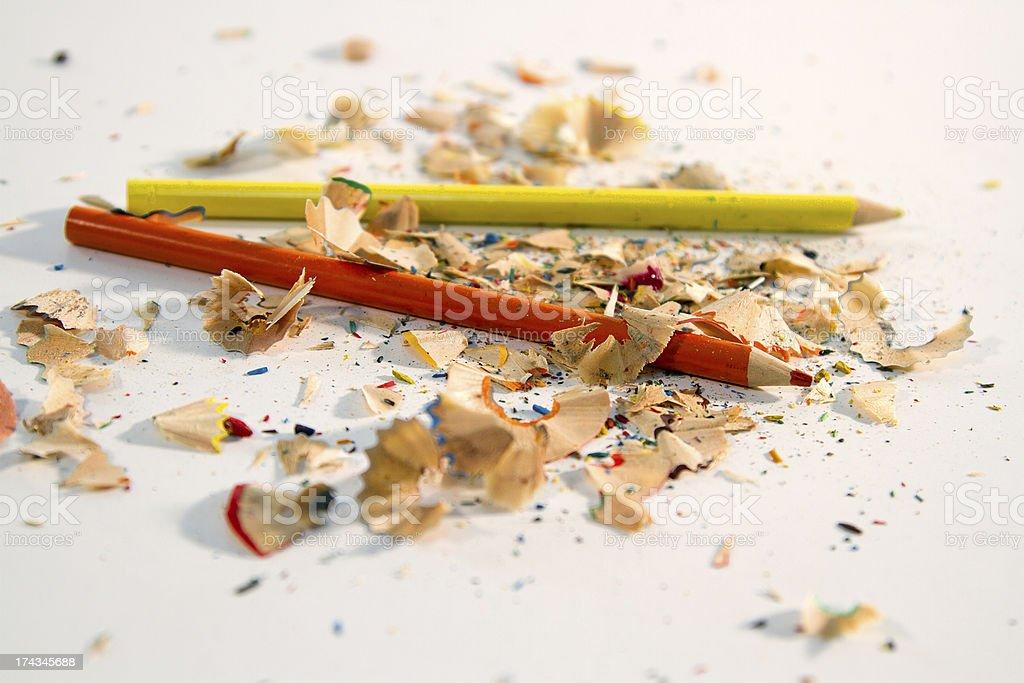 Pencils and Shavings royalty-free stock photo