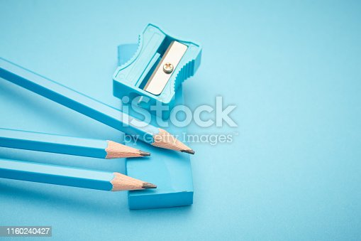 Color-themed collection of stationery.