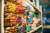 Multi-coloured pencils in Amsterdam.
