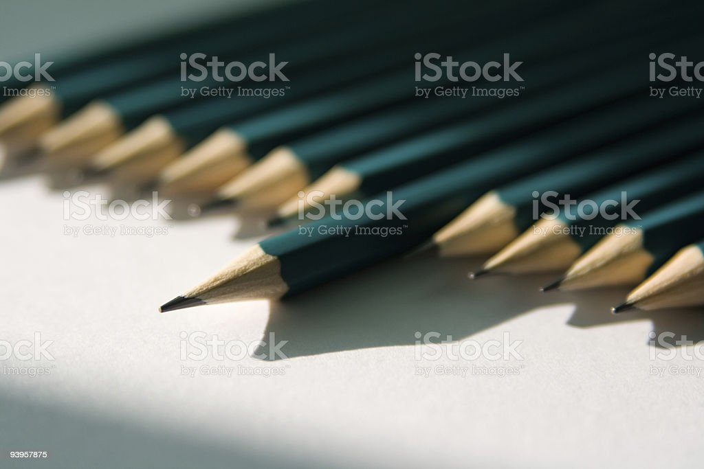 Pencils in light royalty-free stock photo