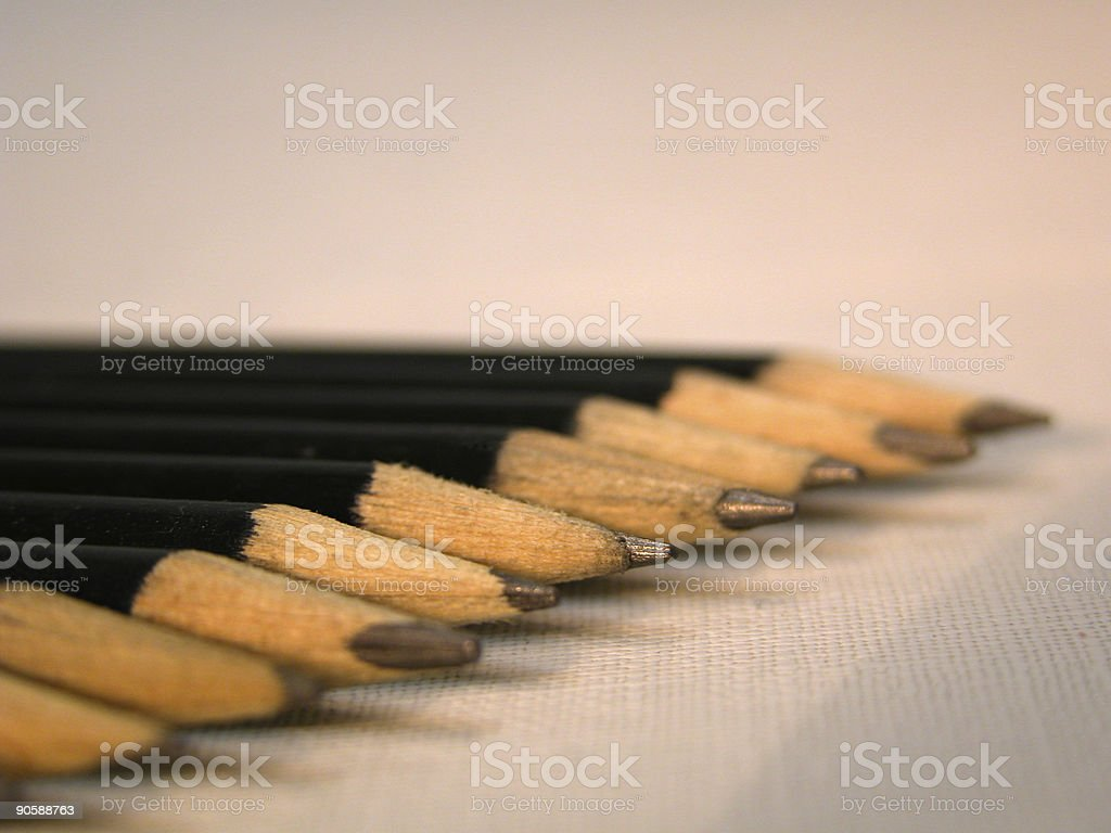 Pencils in line royalty-free stock photo