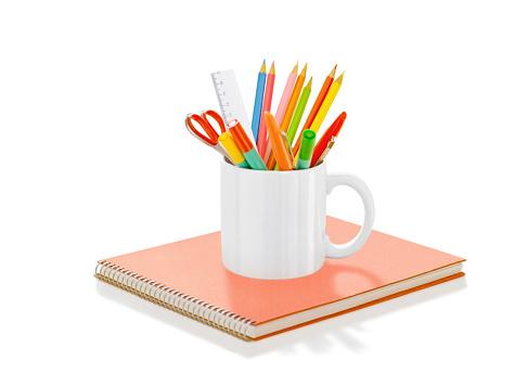 Pencils in mug