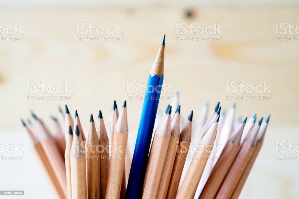 Bleistifte, die isoliert auf Holz - Material Zeitmessung – Foto