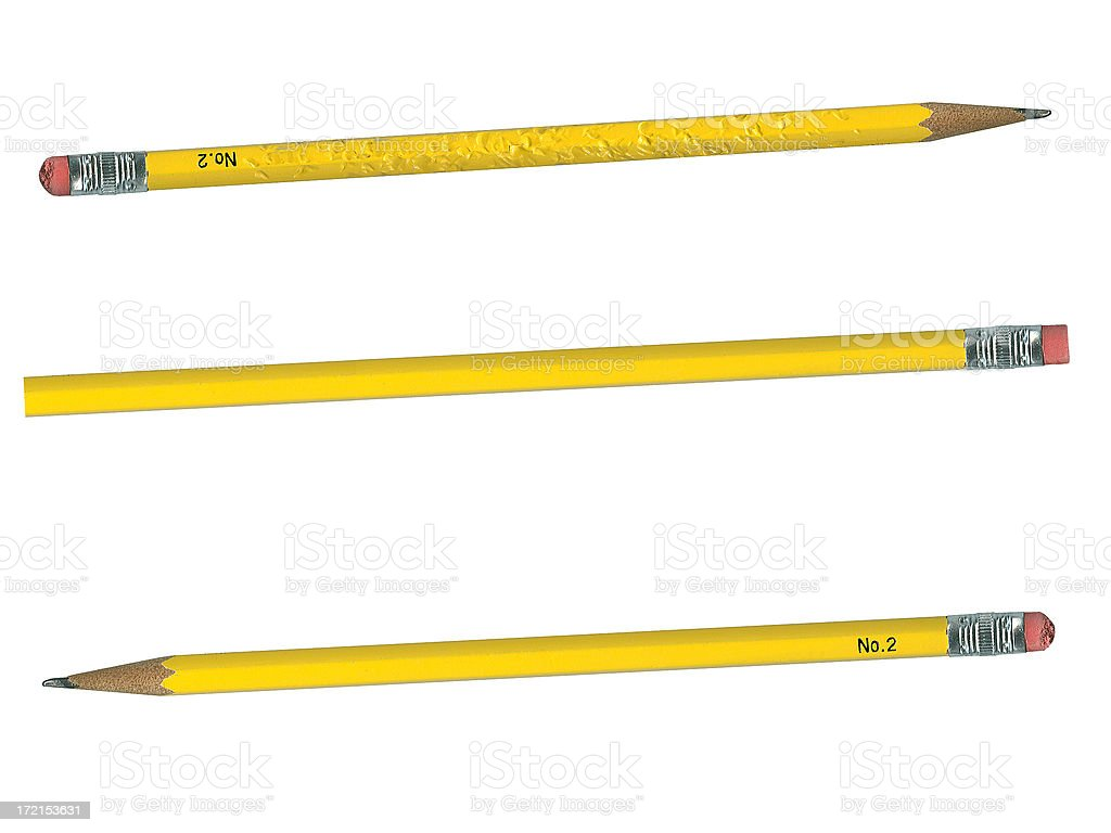 Pencils - New, Used or Chewed stock photo