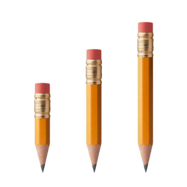 pencils on a white background - pencil stock photos and pictures