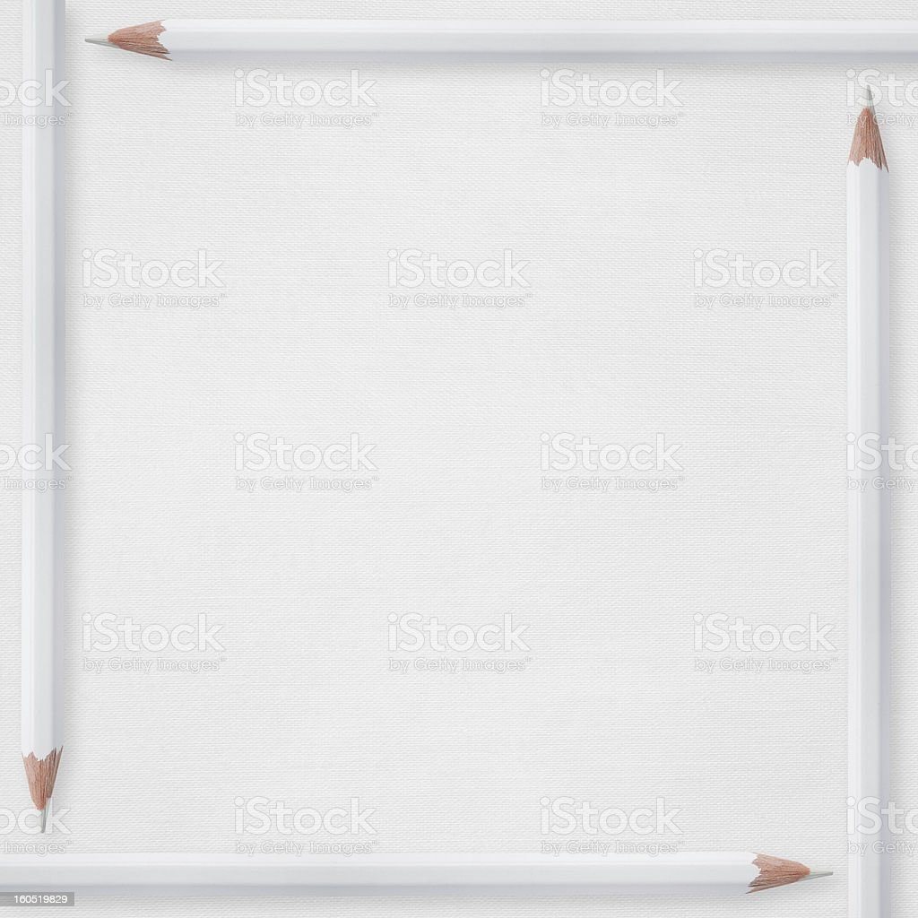 pencils on white paper background royalty-free stock photo