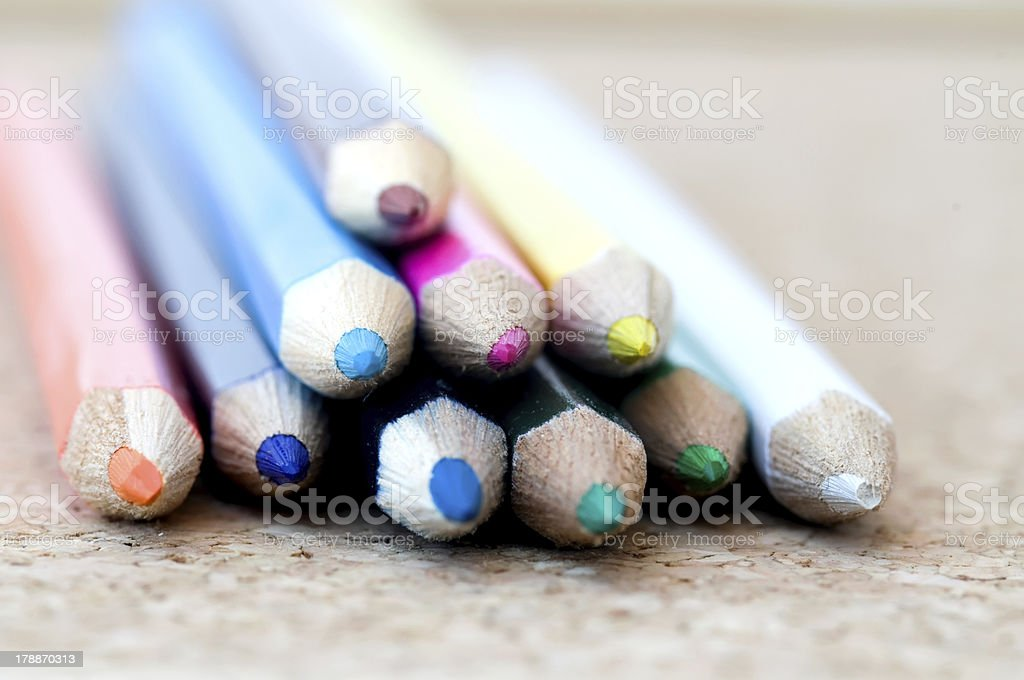 Crayons royalty-free stock photo
