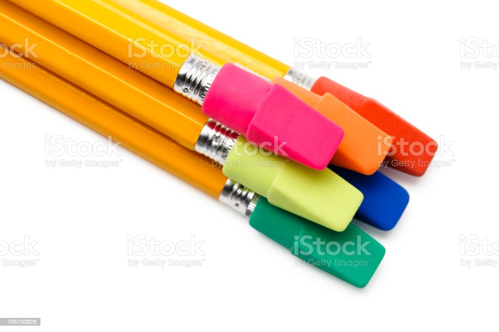 Pencils with Colorful Hats royalty-free stock photo