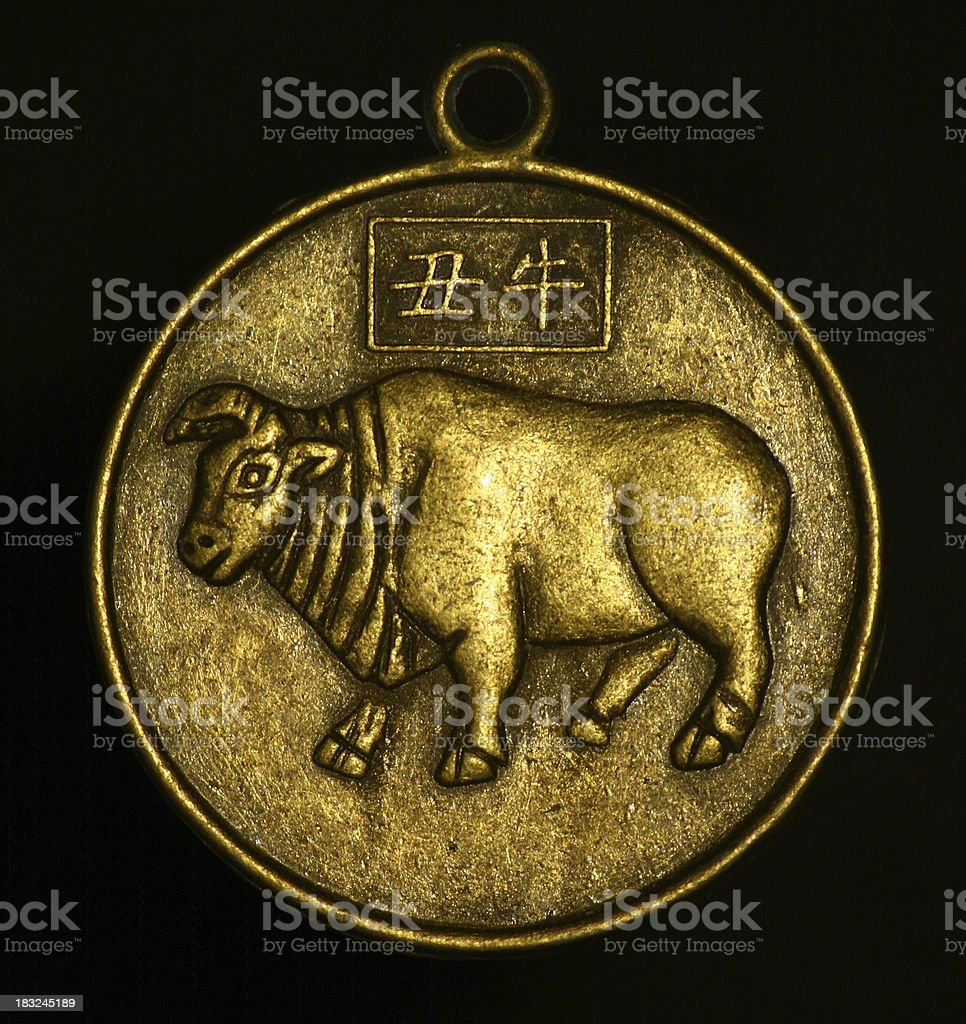 pendant - bull royalty-free stock photo