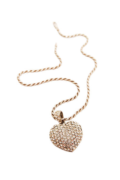 pendant heart-shaped pendant heart-shaped of white gold and diamonds amulet stock pictures, royalty-free photos & images