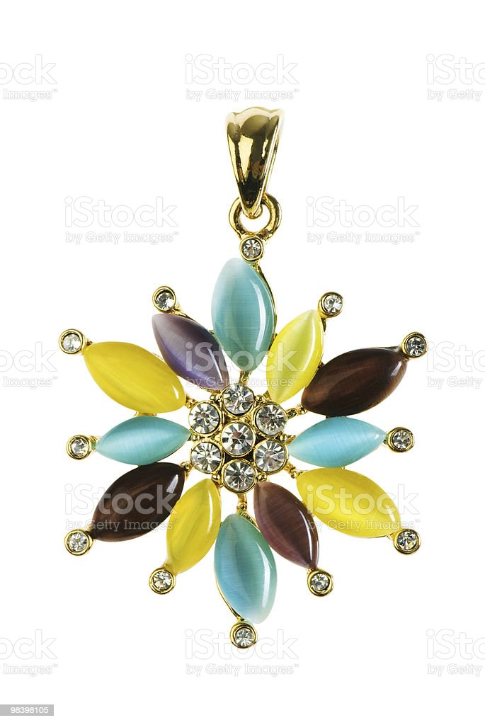 Pendant isolated on the white background royalty-free stock photo