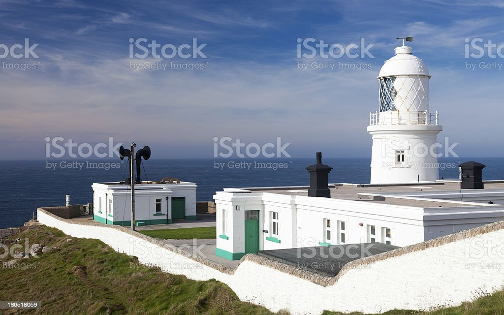 Pendeen Lighthouse Cornwall royalty-free stock photo