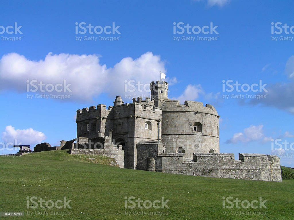 Pendennis Castle in Falmouth stock photo