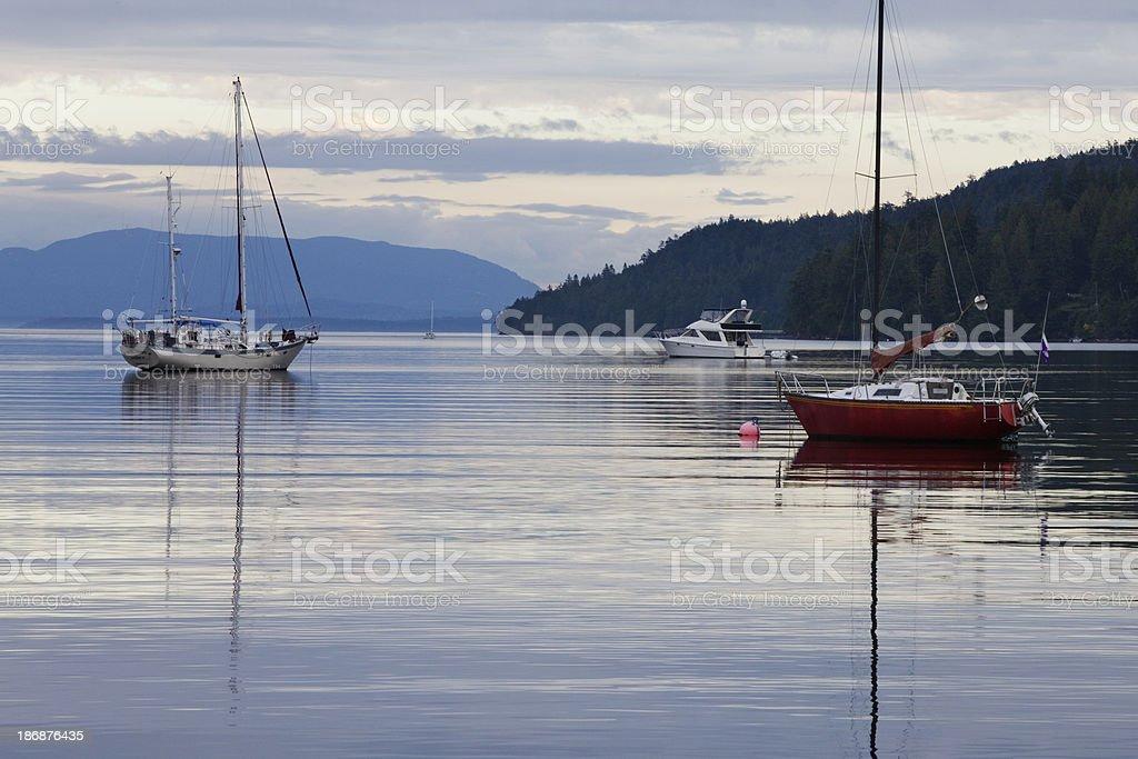 Pender island stock photo