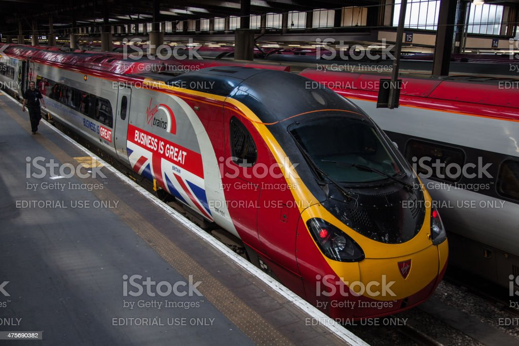 Pendolino high speed train operated by Virgin Trains stock photo