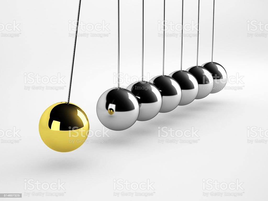 Pendulum concept stock photo