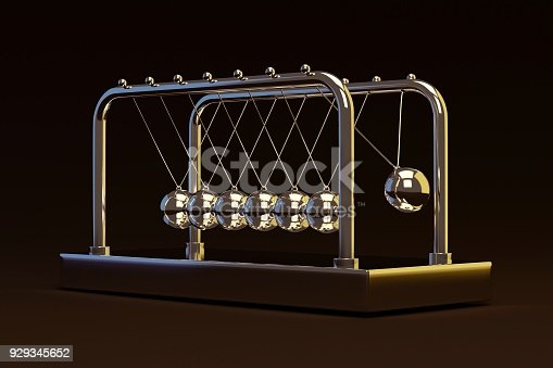 istock pendulum swinging across. 3d render 929345652