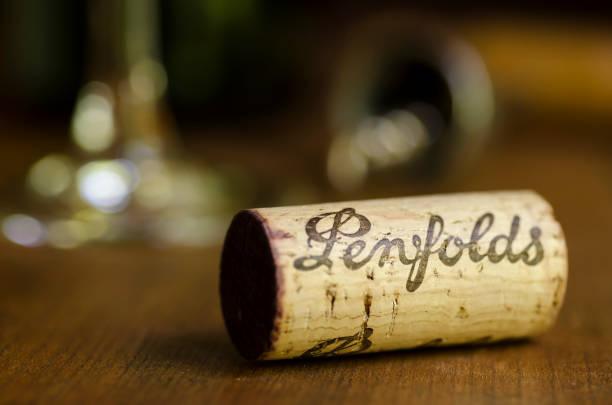 Penfolds Wine Cork - Horizontal stock photo