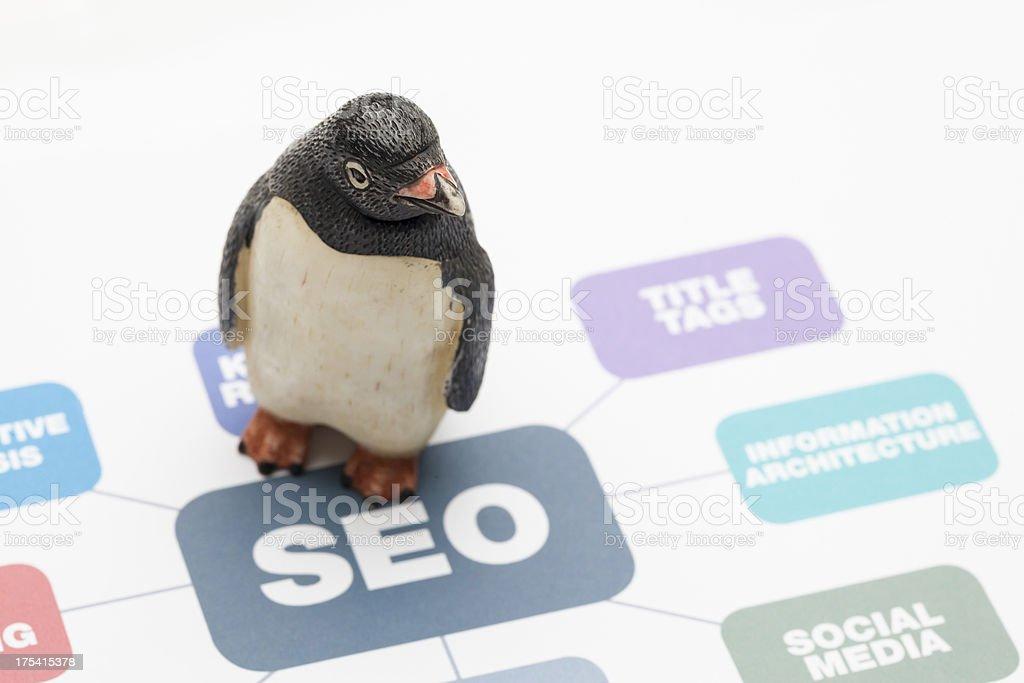 SEO Penguin royalty-free stock photo
