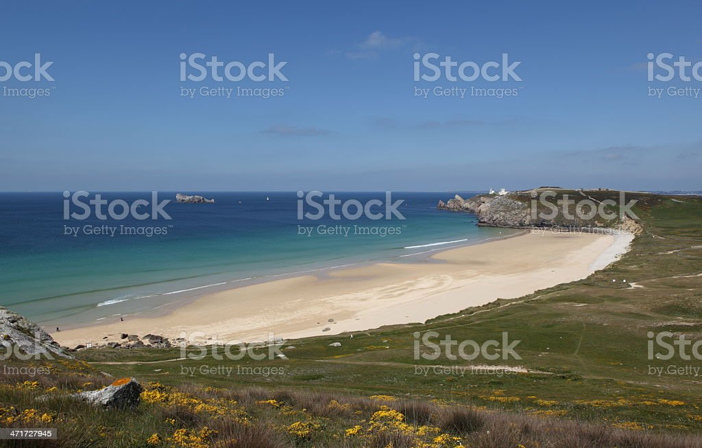 Pen-Hat beach in Brittany, France stock photo