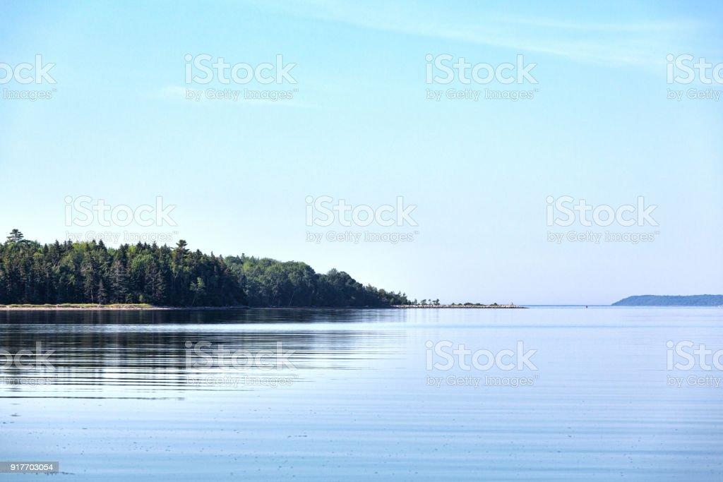 Peninsula of Sears Island in the summertime stock photo
