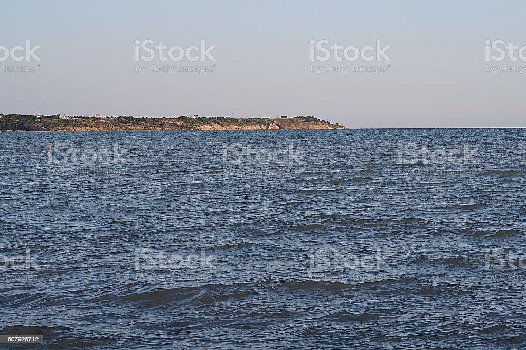 Peninsula on the horizon stock photo