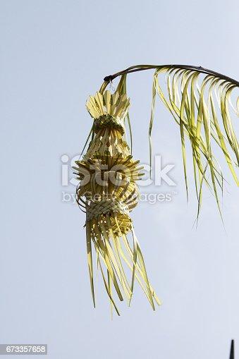 Penjor Coconut leaf