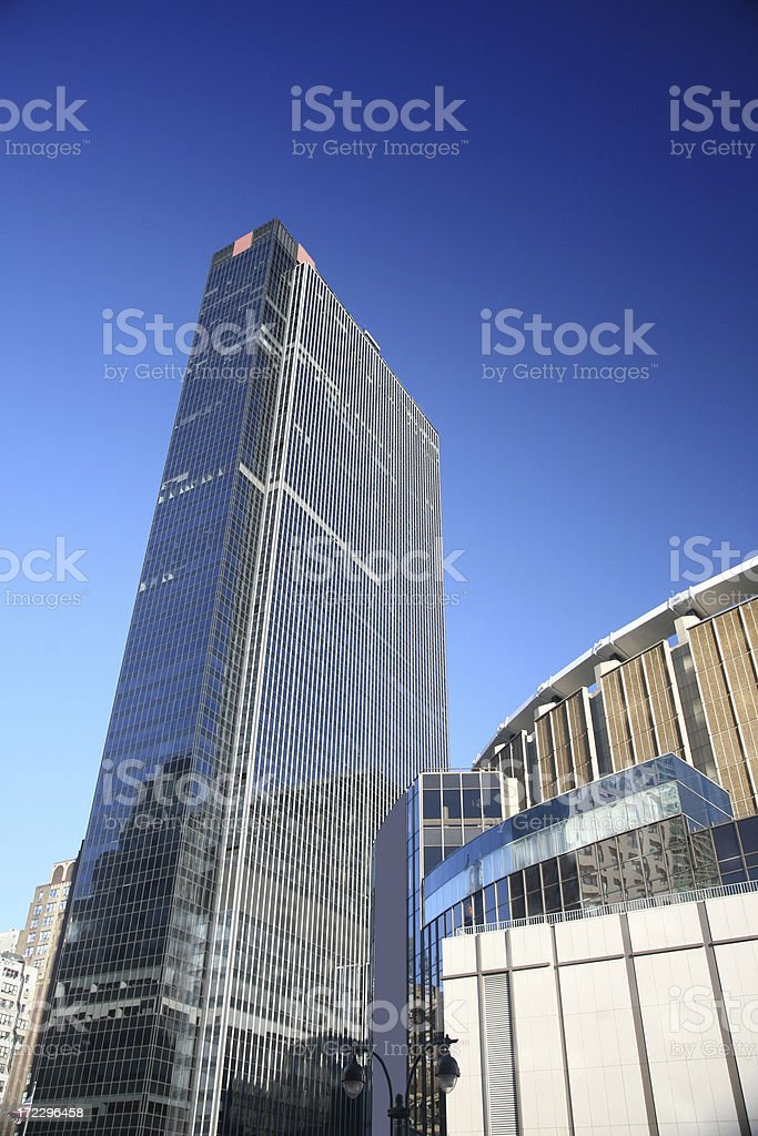 Penn Plaza Above Madison Square Garden And Pennsylvania Station stock photo