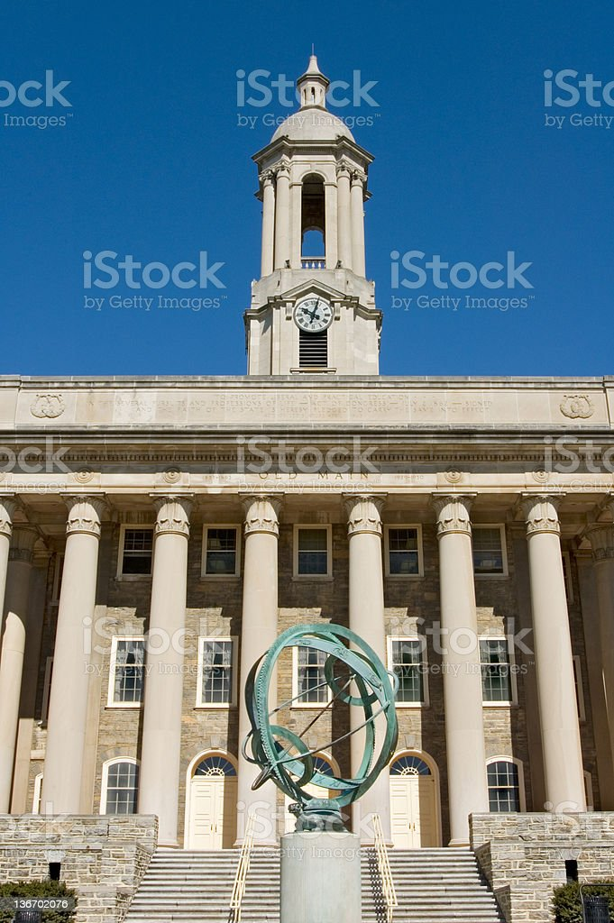 Penn State Campus, Old Main College Building stock photo