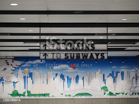1166703050 istock photo Penn Station corridor. 1200165014
