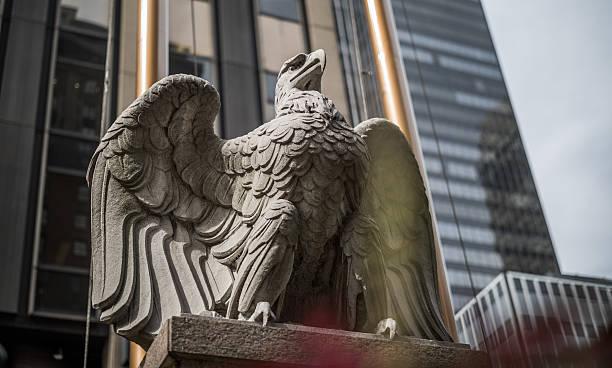 Penn Station Eagle, Manhattan, New York City, United States stock photo