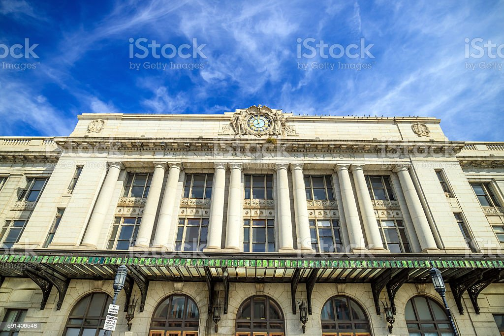 Penn Station in Baltimore stock photo
