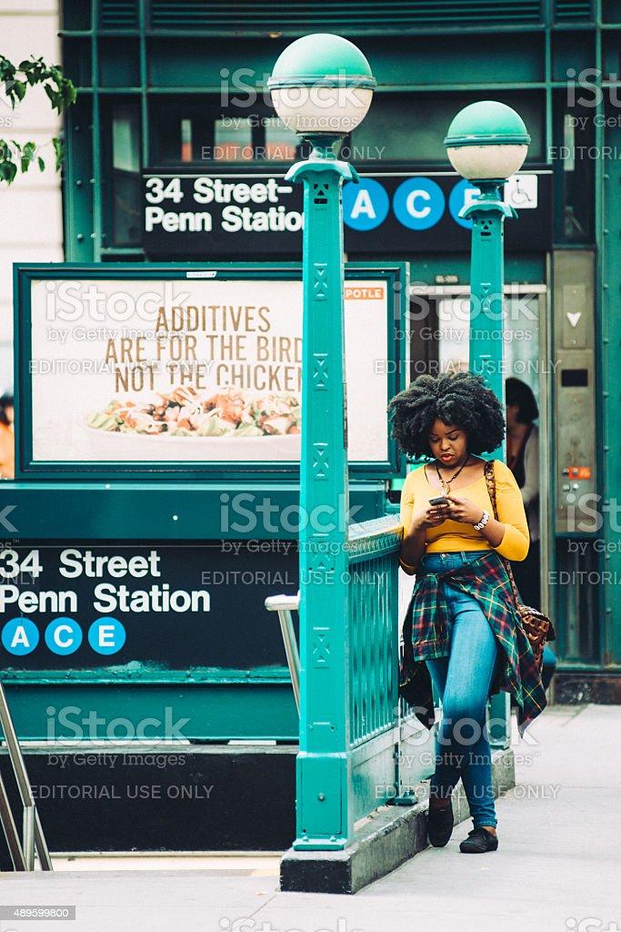 Penn Station New York City stock photo