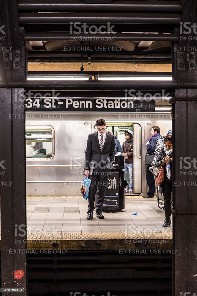 Penn Station NYC stock photo