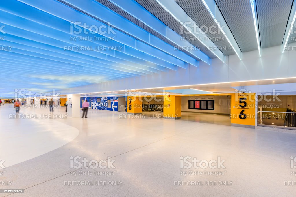 Penn Station renovation below the James A. Farley Post Office, Manhattan, New York City stock photo