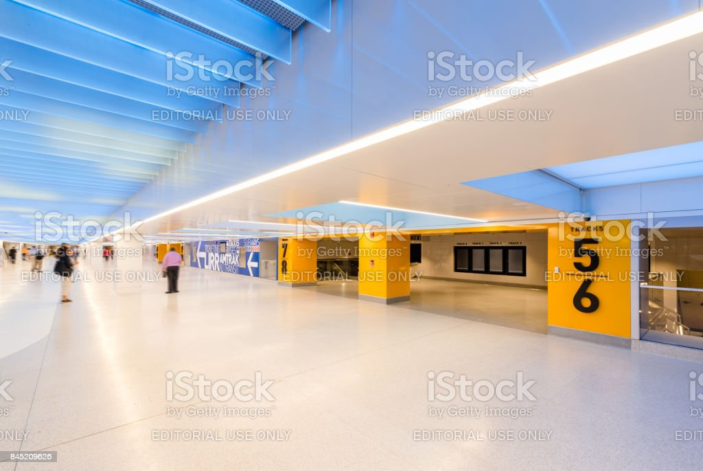 Penn Station renovation below the James A. Farley Post Office, Manhattan, New York City stock photo