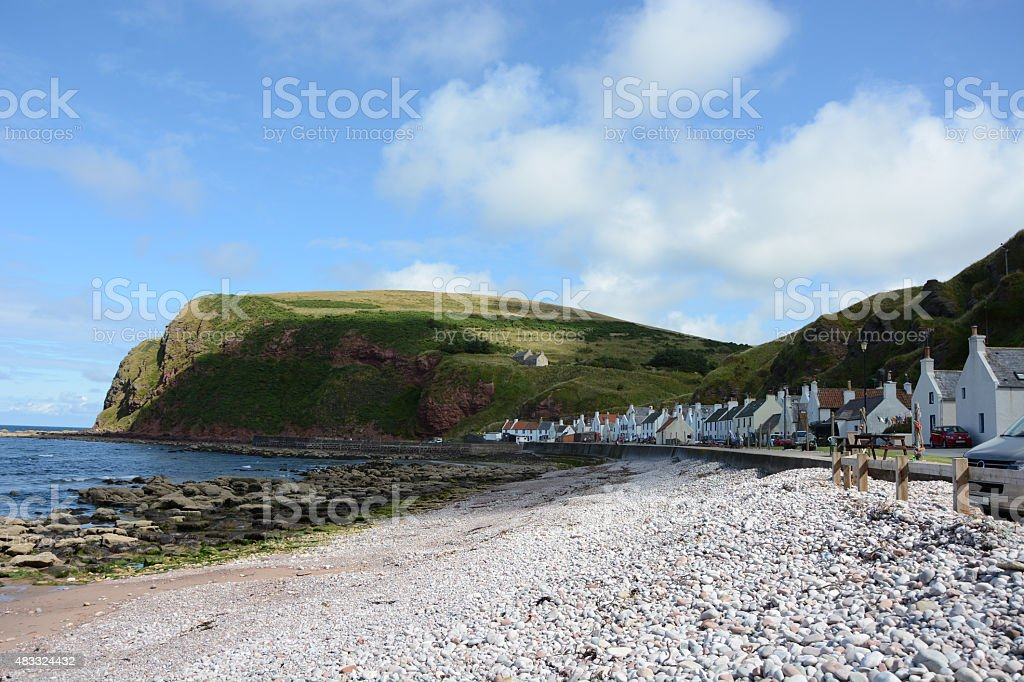 Pennan and Cliffs stock photo