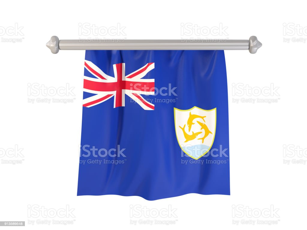Pennant with flag of anguilla stock photo