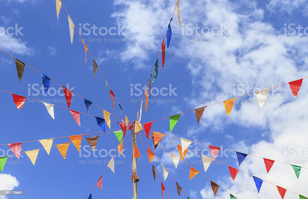 pennants with blue sky royalty-free stock photo