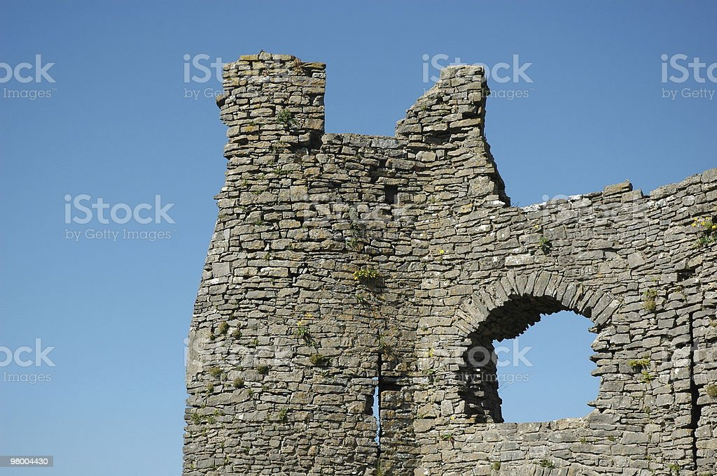 Pennard Castle detail royalty-free stock photo