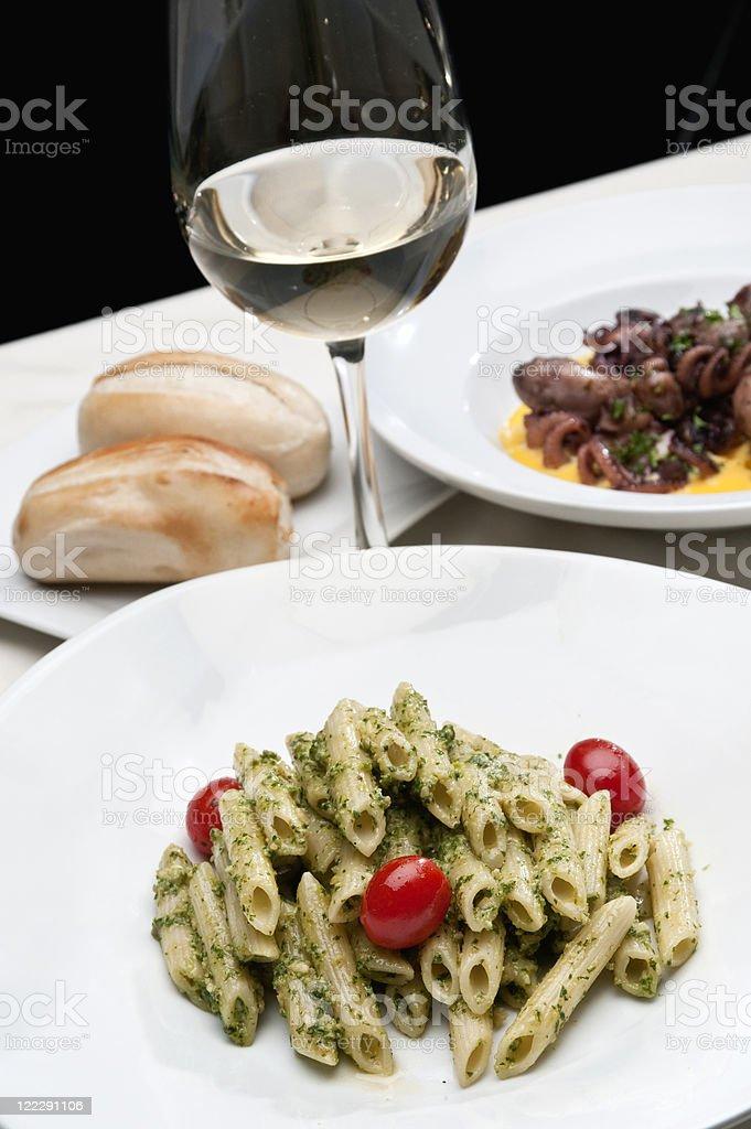 Penne al Pesto royalty-free stock photo