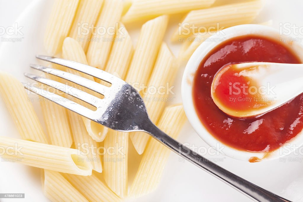 Penne Pasta with red tomato sauce royalty-free stock photo