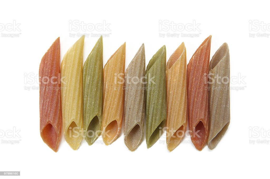 penne row royalty-free stock photo