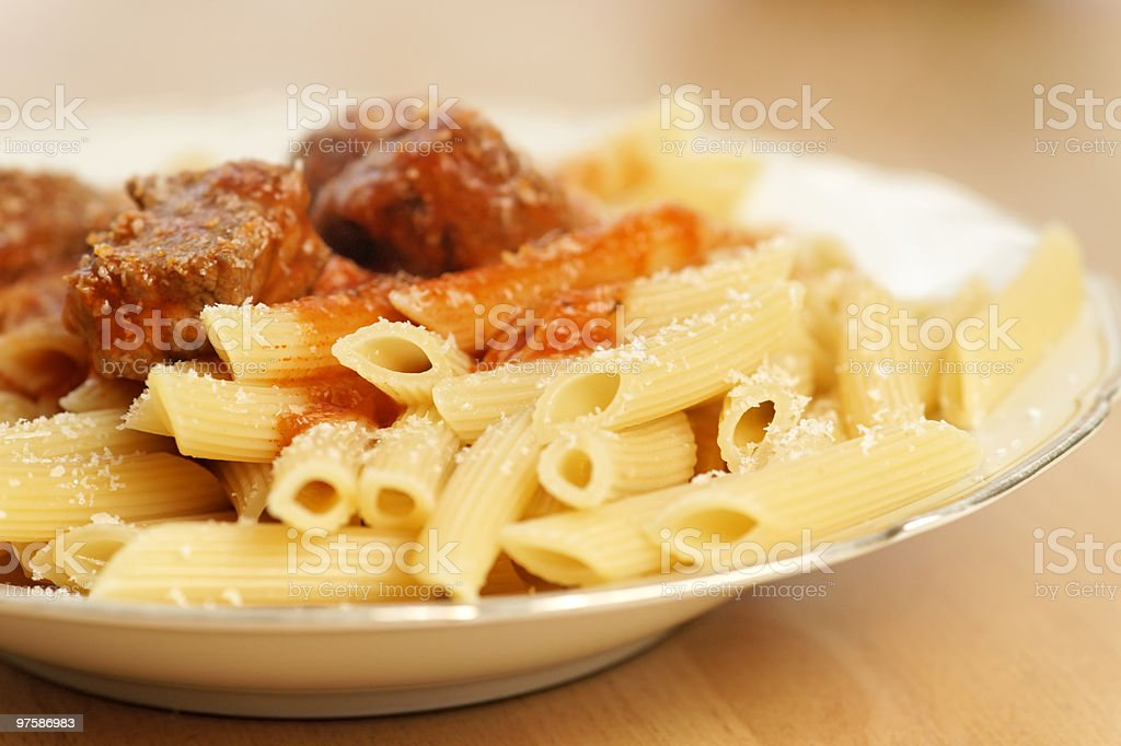 Penne al Sugo royalty-free stock photo