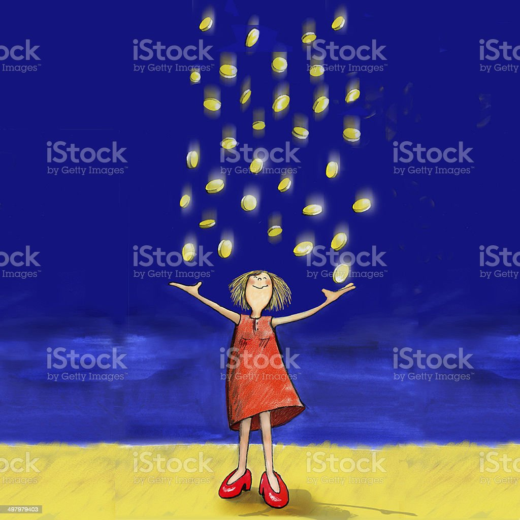 pennies from heaven stock photo
