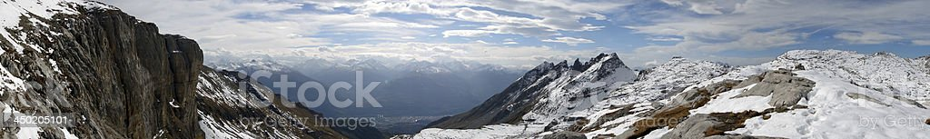 Pennine Alps shot from the Bernese ones royalty-free stock photo